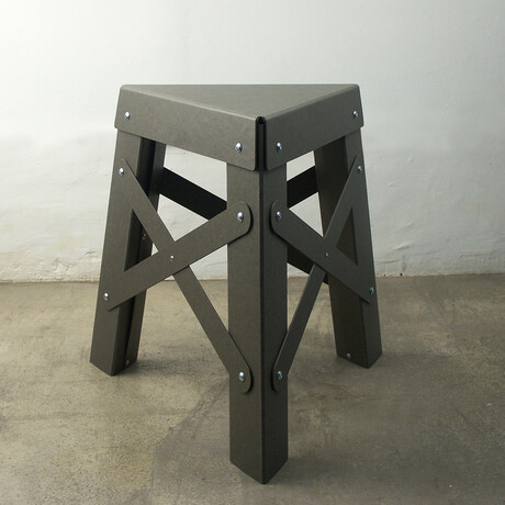 Eiffel Stool // Paper // Gray