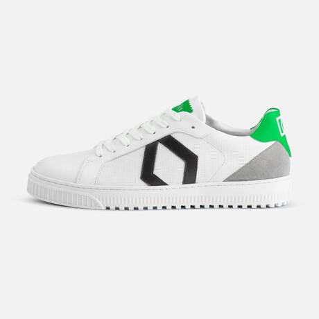 Men's Park Sneaker // White + Green (Men's Euro Size 40)