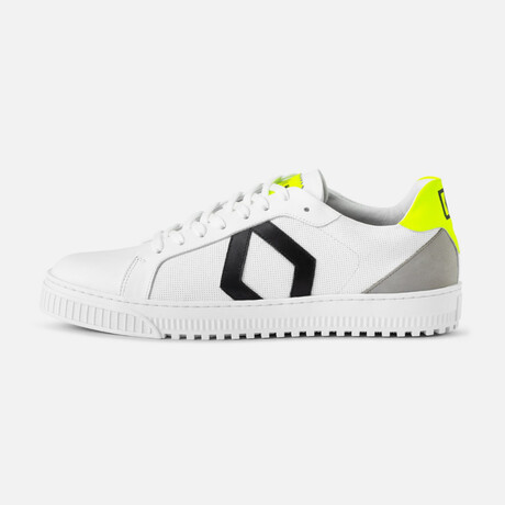 Men's Park Sneaker // White + Yellow (Men's Euro Size 40)
