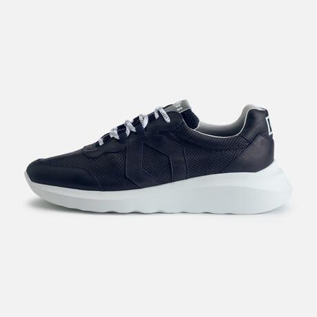 Men's Infinity Style Sneaker // Navy + White (Men's Euro Size 39)