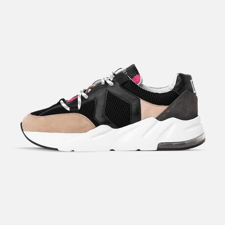 Women's Boom Sneaker // Black + Rose + Beige (Women's Euro Size 37)