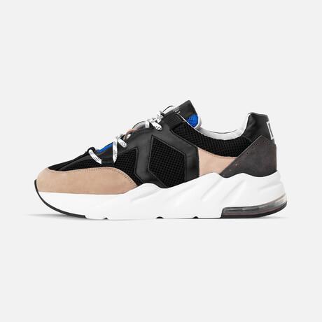Men's Boom Sneaker // Black + Blue + Beige (Men's Euro Size 39)