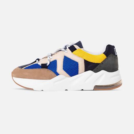 Men's Boom Sneaker // Blue + Yellow + Beige + Black (Men's Euro Size 40)