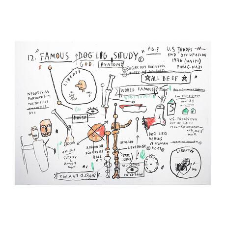 Jean-Michel Basquiat // Dog Leg Study // 1982-83/2019