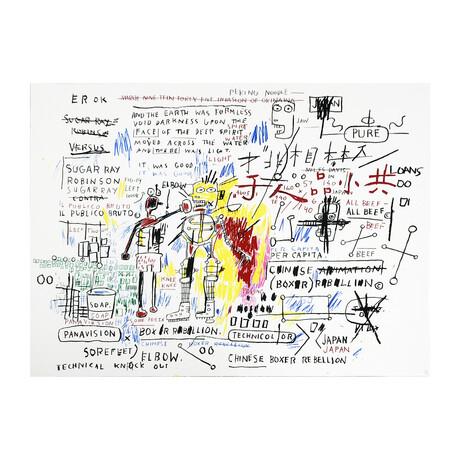 Jean-Michel Basquiat // Boxer Rebellion // 1982-83/2017