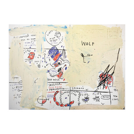 Jean-Michel Basquiat // Wolf Sausage // 1982-83/2019