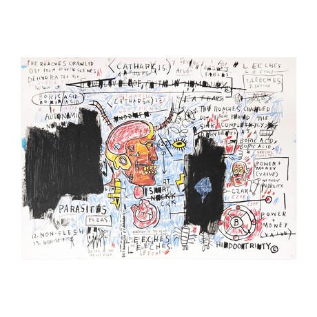 Jean-Michel Basquiat // Leeches // 1982-83/2017