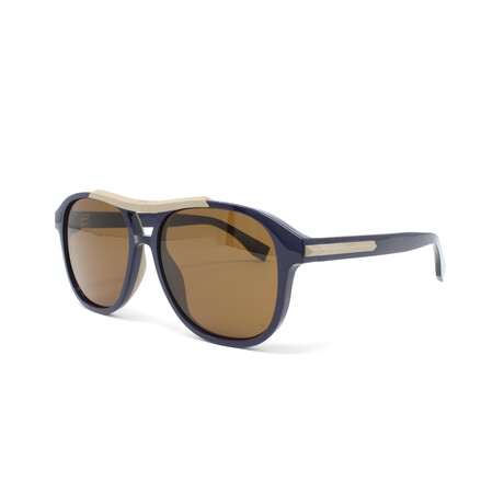 Fendi // Men's FFM0026GS Sunglasses // Blue + Brown