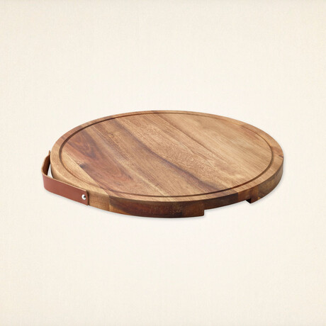 Round Serving Platter & Cutting Board