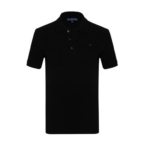 Cane Short Sleeve Polo // Black (S)