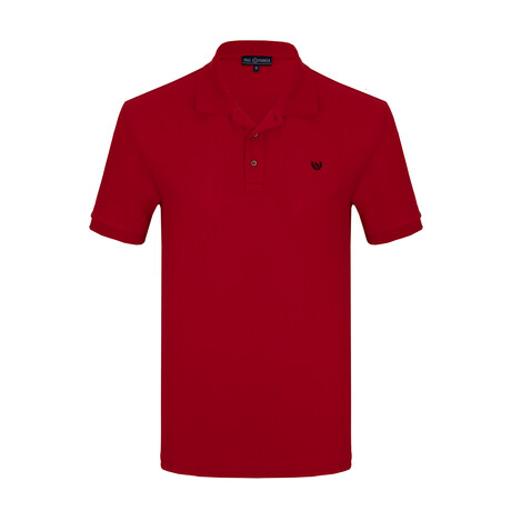 Chip Short Sleeve Polo // Red (S)