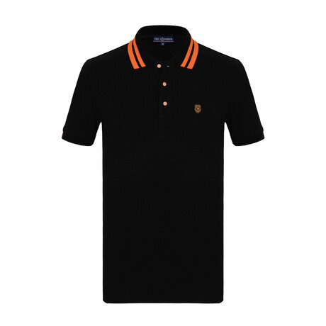Otis Short Sleeve Polo // Black (S)