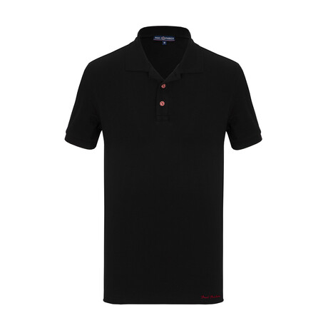 Kye Short Sleeve Polo // Black (S)