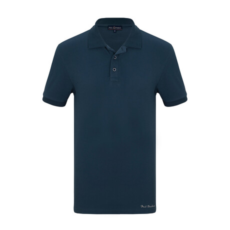 Hamzah Short Sleeve Polo // Marine (S)