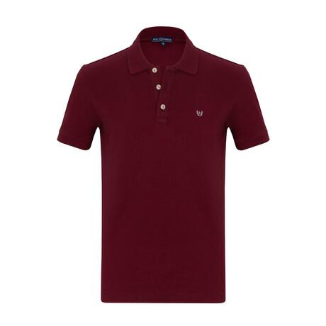 Rebek Short Sleeve Polo // Bordeaux (S)