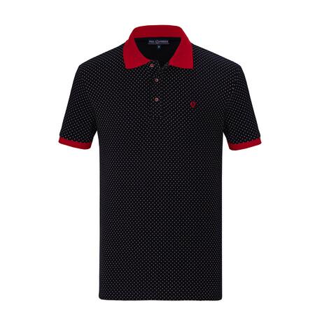 Abel Short Sleeve Polo // Navy (S)