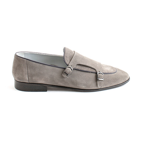 Cepeda Buckle Loafers // Gray Suede (Euro 40)