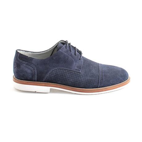 Battaglin Lace-Up Dress Shoes // Navy Blue Suede (Euro 40)