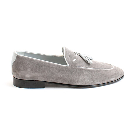 Puccio Tasseled Loafers // Gray Suede (Euro 40)