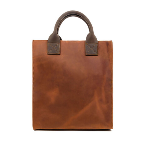 The Republic // Leather Tote Bag (Blue)