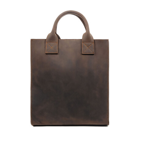 The Republic // Leather Tote Bag // Brown