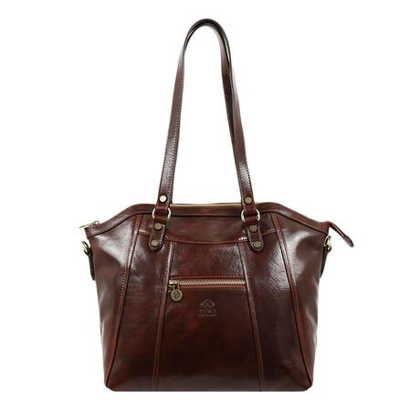 Main Street // Women's Leather Shoulder Bag // Brown