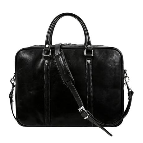 The Hobbit // Leather Laptop Bag // Black