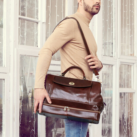 Dr.Faust // Leather Doctor Bag // Dark Brown