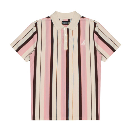 Yarn Dyed Vertical Stripe Polo // Blush Crème Combo (S)