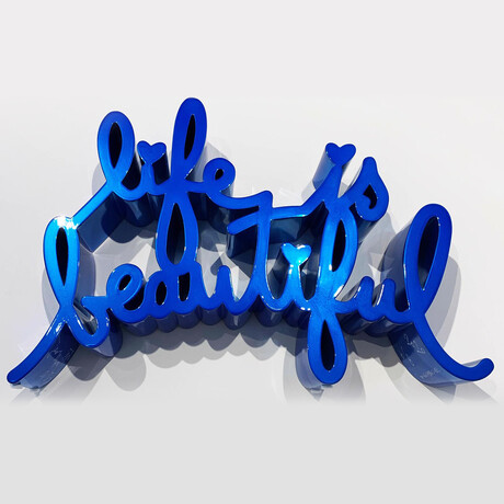 Mr. Brainwash // Life is Beautiful // Hard Candy Blue // 2020