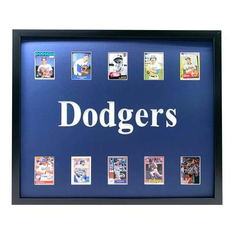 Los Angeles Dodgers Framed Baseball Card Collage