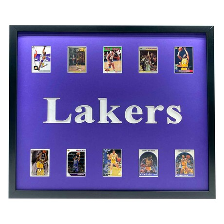 Los Angeles Lakers Framed Basketball Card Collage