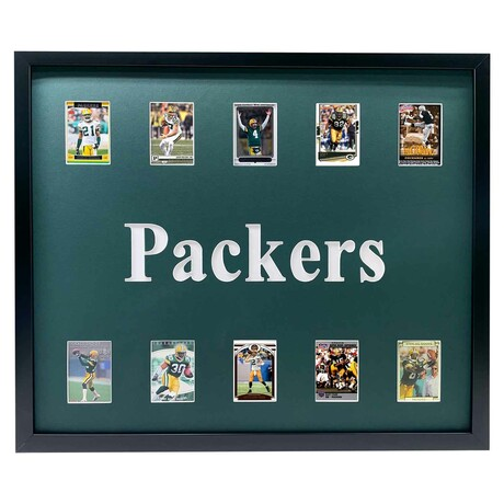 Green Bay Packers Framed Football Card Collage
