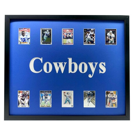 Dallas Cowboys Framed Football Card Collage