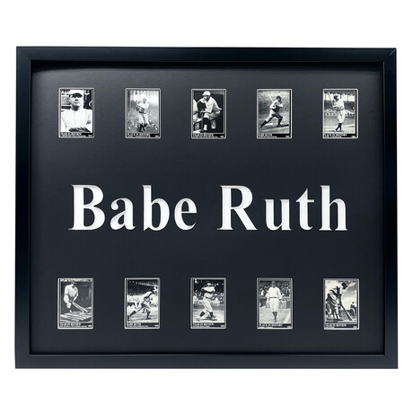 Babe Ruth Framed Trading Card Collage