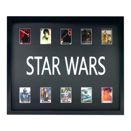 Star Wars Framed Trading Card Collage