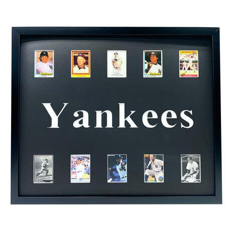 New York Yankees Framed Baseball Card Collage