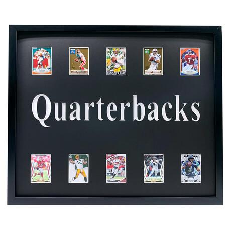 Great Quarterbacks Framed Football Card Collage