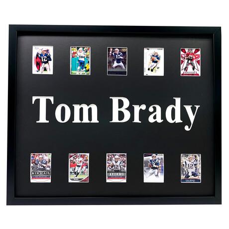 Tom Brady Framed Football Card Collage
