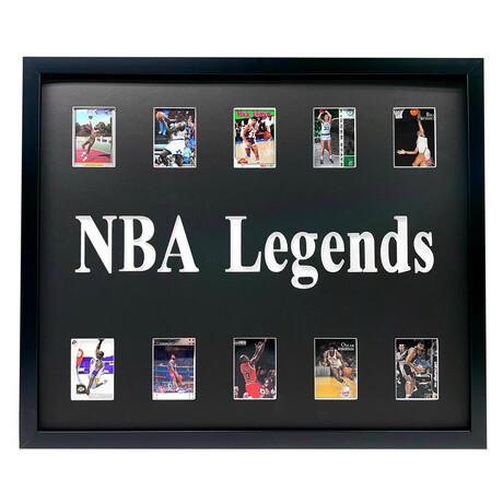 NBA Legends Framed Basketball Card Collage