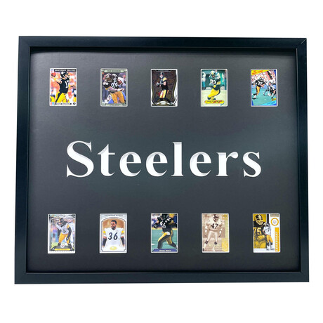 Pittsburgh Steelers Framed Football Card Collage
