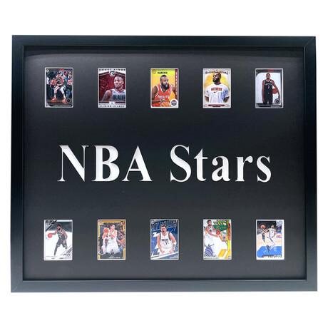 NBA Stars Framed Basketball Card Collage