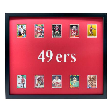 San Francisco 49ers Framed Football Card Collage