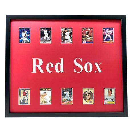 Boston Red Sox Framed Baseball Card Collage