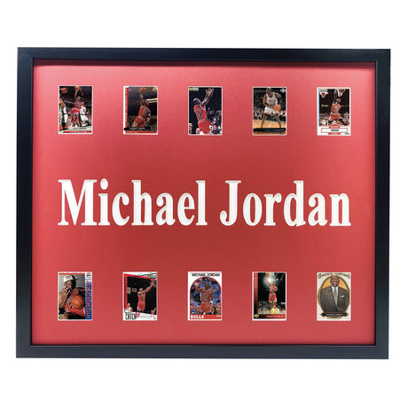 Michael Jordan Framed Basketball Card Collage