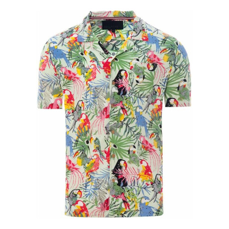 Multi Parrot Shirt // Mint (S)