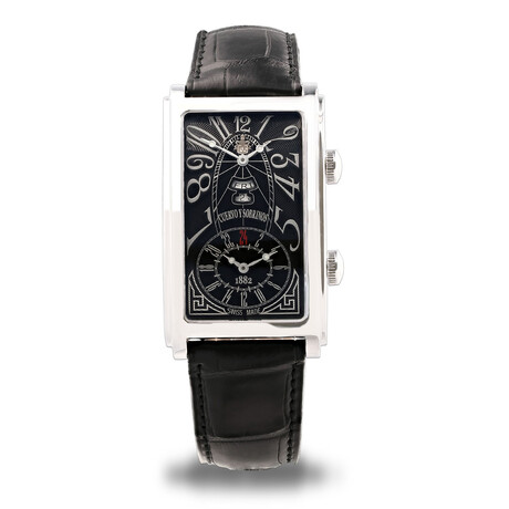 Cuervo y Sobrinos Prominente Dual Time Automatic // 1124.1ANG