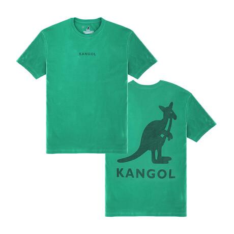 Kangol Block Logo Graphic Tee // Green (S)
