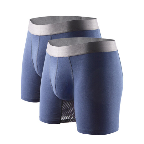 Technical Silver + Odor Resistant Boxer Briefs // Blue // Pack of 2 (S)