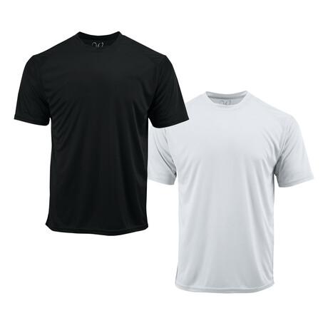 Performance Basics Dri-Tech Tees // Black + White // Pack of 2 (S)